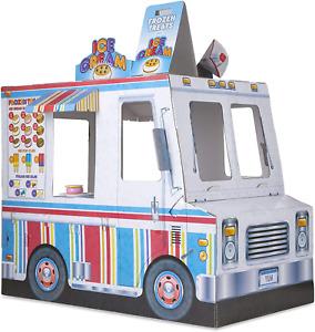 Melissa & Doug Food Truck Indoor Playhouse Corrugate Ice Cream and Barbecue 4