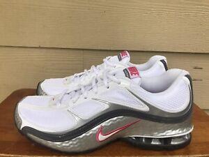 Nik Reax Run 5 Women's Running Shoes White Grey Silver 407987-116 Size 9.5