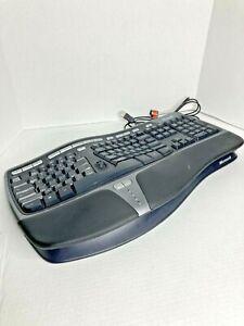 Microsoft Natural Ergonomic Wired USB Keyboard KU-0462 4000 W/ Front Tilt Plate