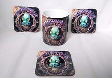 Oddworld Abes Oddysee PlayStation PS1 MUG + 3 Matching Quality Hardwood Coasters