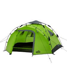 Sekundenzelt QEEDO Quick Pine 3 Personen Zelt Campingzelt Pop Up Zelt grün