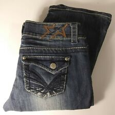 "Almost Famous Women's Jeans Distressed Medium Wash 30"" Waist 33"" inseam"