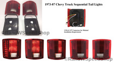 Pair (2) Sequential Tail Lights 1973-1987 Chevrolet Pickup Truck LED Brake Lamp