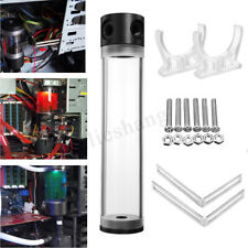 Acrylic Cylinder Reservoir Water Cooling Liquid Tank G1/4 PC Computer