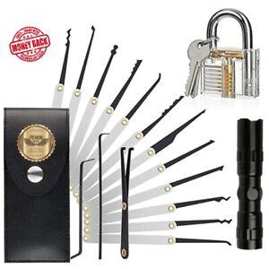 15pcs Padlock Shim PICKS Set Door Lock Opener Accessories Door opening Set Tool