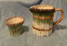 Asparagus Pitcher Vintage 1989 Cultivated Garden By Shafford 5 Cup With Bonus