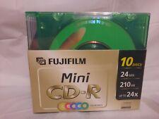 10-Pack +1 FujiFilm ARCHIVAL STORAGE Mini CD-R COLOR Disc & Case Set 210 MB 24x