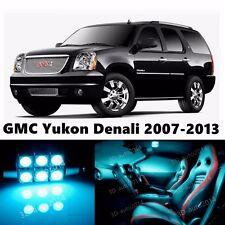 16pcs LED ICE Blue Light Interior Package Kit for GMC Yukon Denali 2007-2013