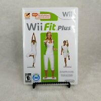 Wii Fit Plus (Wii, 2009) Video Game with Disc, Manual and Case