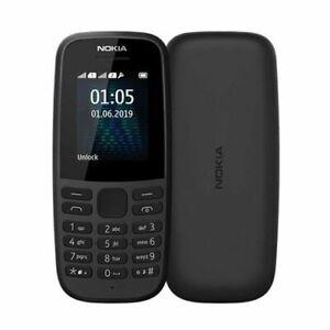 Brand New Nokia 105 Latest 4th Edition Single SIM Mobile Phone Unlocked In Black