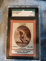 Rare TY COBB 1976 Motorola Baseball SGC Detroit Tigers Hall of Fame Moto1z2scg03