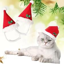 PRO Pet Dog Cat Adjustable Santa Hat Christmas Xmas Red Holiday Costume A Profe