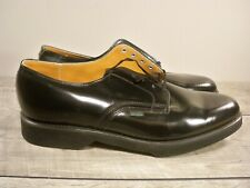 Nos Vintage Union Made Black Leather Oxford Soft Toe Delivery Mail Man Shoe 10.5