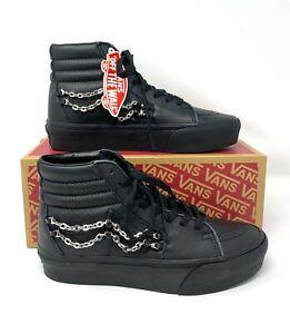 VANS Sk8-Hi Platform 2 Chain Leather Black Women's Sneakers  VN0A3TKN2UX