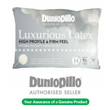 DUNLOPILLO Luxurious Natural Talalay Latex High Profile / Firm Feel Pillow NEW