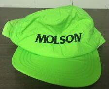 Vintage Molson Beer Lime Green Men's Adjustable Hat Cap 1990s Vtg
