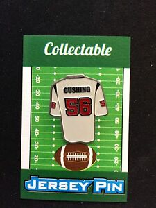 Houston Texans Brian Cushing jersey lapel pin-Classic Collectable-Fan Favorite