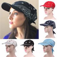 Women Outdoor Sports Kerchief Hats Shade Cotton Headscarf Baseball Cap Cycling