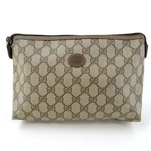 GUCCI Guccissima Supreme GG Monogram Clutch Bag Pouch in Brown - Italy