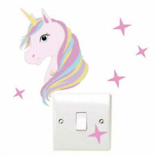 Unicorn Light Switch Wall Sticker Stars Childrens Bedroom Stickers Decal Shimmer