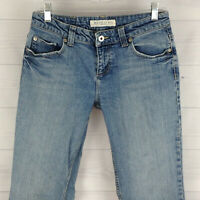 Maurices Hipster Bootcut Womens Size 5/6 Short Stretch Distressed Med Wash Jeans
