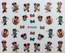 Nail Art 3D Decal Stickers Girl Mouse & Bows K089