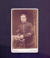 CDV,Victorian Soldier.in Uniform photographer W.Kent.Chatham  (ZB1)