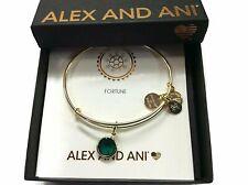 Alex and Ani May Color Code Emerald Bangle Bracelet Shiny Silver NWTBC