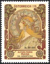 Austria 2010 Alfons Maria Mucha/Paintings/Art/Artists/Woman/Zodiac 1v (at1108)