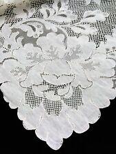 French Alencon Lace Tablecloth - Hand-Run - Ecru - 72x108 - Elegant - Delicate