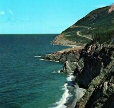 Old Scot Rock Cabot Trail Cape Breton Highlands Ntl Pk CA NS Vintage Postcard