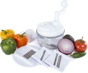 Miracle Chopper Manual Food Processor Salsa Maker, Blender, Slicer and Julienne