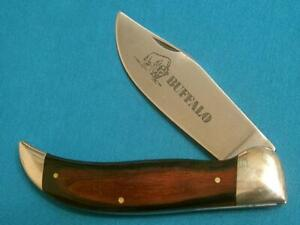 VINTAGE OLE SMOKY BUFFALO HUNTING BOWIE KNIFE GRIZZLY BULLDOG FOLDING SURVIVAL