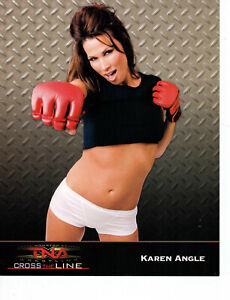KAREN ANGLE UNSIGNED 8x10 OFFICIAL PROMO PHOTO TNA WWE WRESTLING OUT OF PRINT