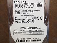 "Toshiba MK2561GSYN (HDD2F24 D UL01 T) FW:MH000D 250gb 2.5"" Sata HDD"