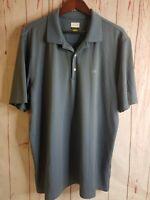 Greg Norman Play Dry Mens Size XL Polo Golf Shirt Gray Short Sleeve Shark logo