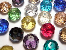 300Pc 8mm Austrian 5040 Crystal Faceted Rondelle Beads - Assorted Mixed Color