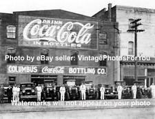 Old/Antique/Vintage Prohibition Era Coca Cola Bottle Plant Trucks/Drivers Photo