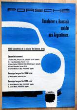 org. Porsche Plakat Werbe Poster 1958 Porsche 356 erste Jahrzehnt Porsche rare