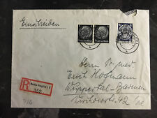 1940 Danzig Cover to Berlin Germany Wuppertal