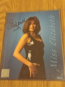 Miss Elizabeth Rare Signed Autographed 1999 WCW NWO