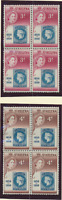 St. Helena Stamps Scott #153 To 154, Mint Never Hinged, Blocks of 4