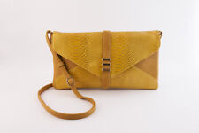 Gold Snake Vegan Leather Envelope Clutch