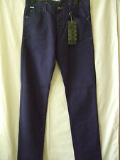 "NEW £54.99 BENCH ECLIPSE NAVY BLUE CHINOS 32"" WAIST 34LEG"