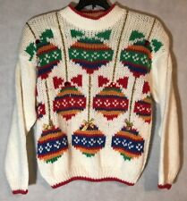 Color Cues Knitted By Hand Size Small Preowned Christmas Sweater EUC