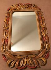 Homco Home Interiors Vintage Large Mirror & Two Mirrored Sconces 2416 Usa Made