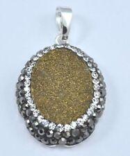 Bigiotteria ovale in oro placcato argento