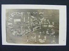 USS California ACR-6 Navy Ship Collage Antique Real Photo RPPC Postcard 1909