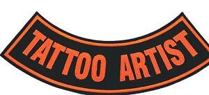 """TATTOO ARTIST MOTORCYCLE BIKER CLUB VEST ROCK 11"""" ROCKER PATCH CL-21"""