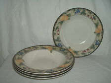 "(4) 9 1/4"" Mikasa Intaglio Garden Harvest Rimmed Soup Bowls - 3 Lots Available"